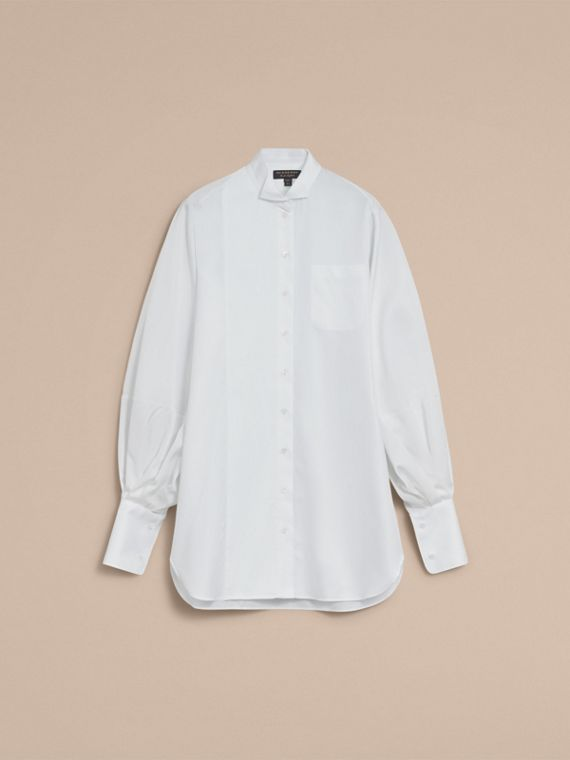 Voluminous-sleeve Cotton Shirt Dress - Women | Burberry - cell image 3