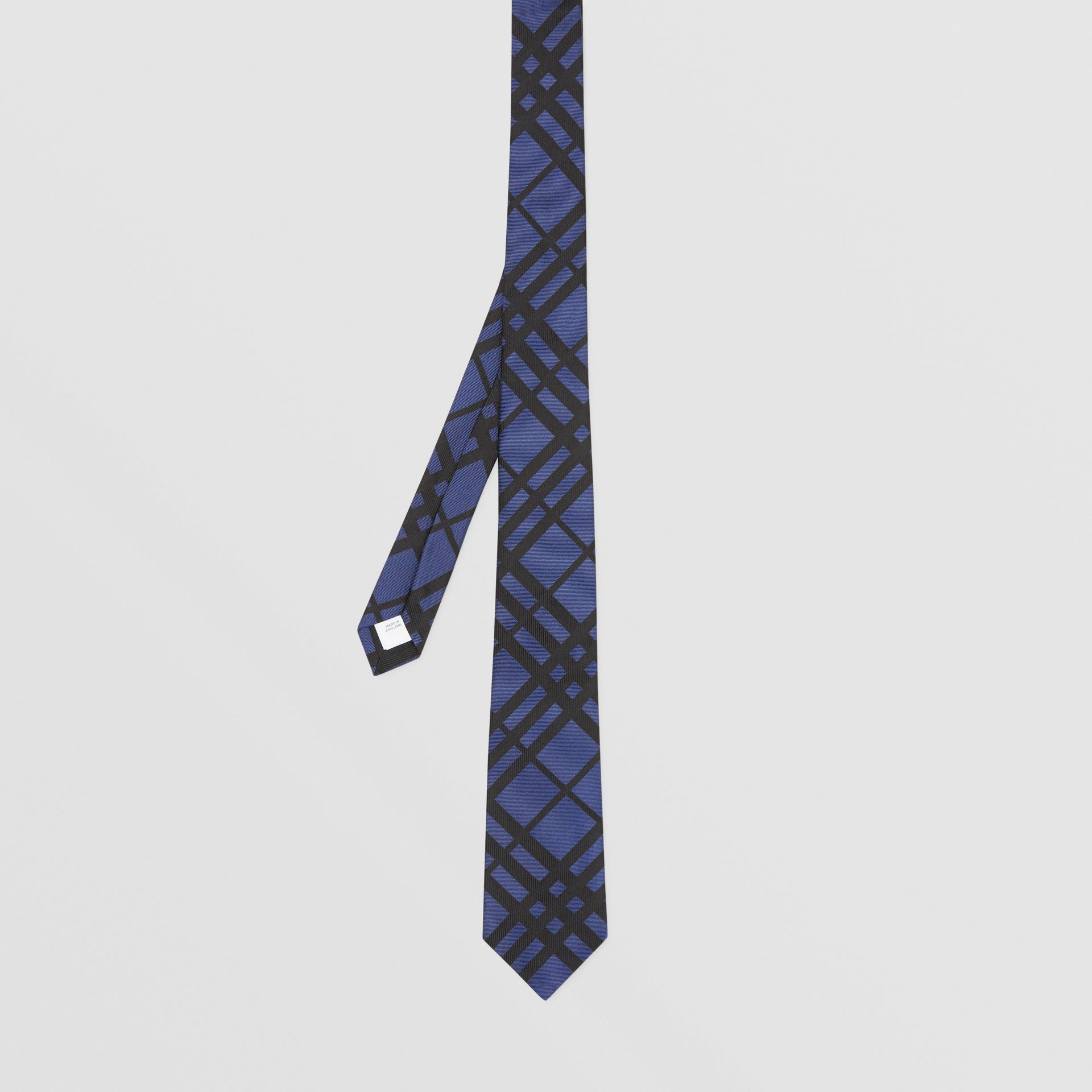 Classic Cut Check Silk Jacquard Tie in Canvas Blue - Men | Burberry Hong Kong S.A.R - gallery image 4