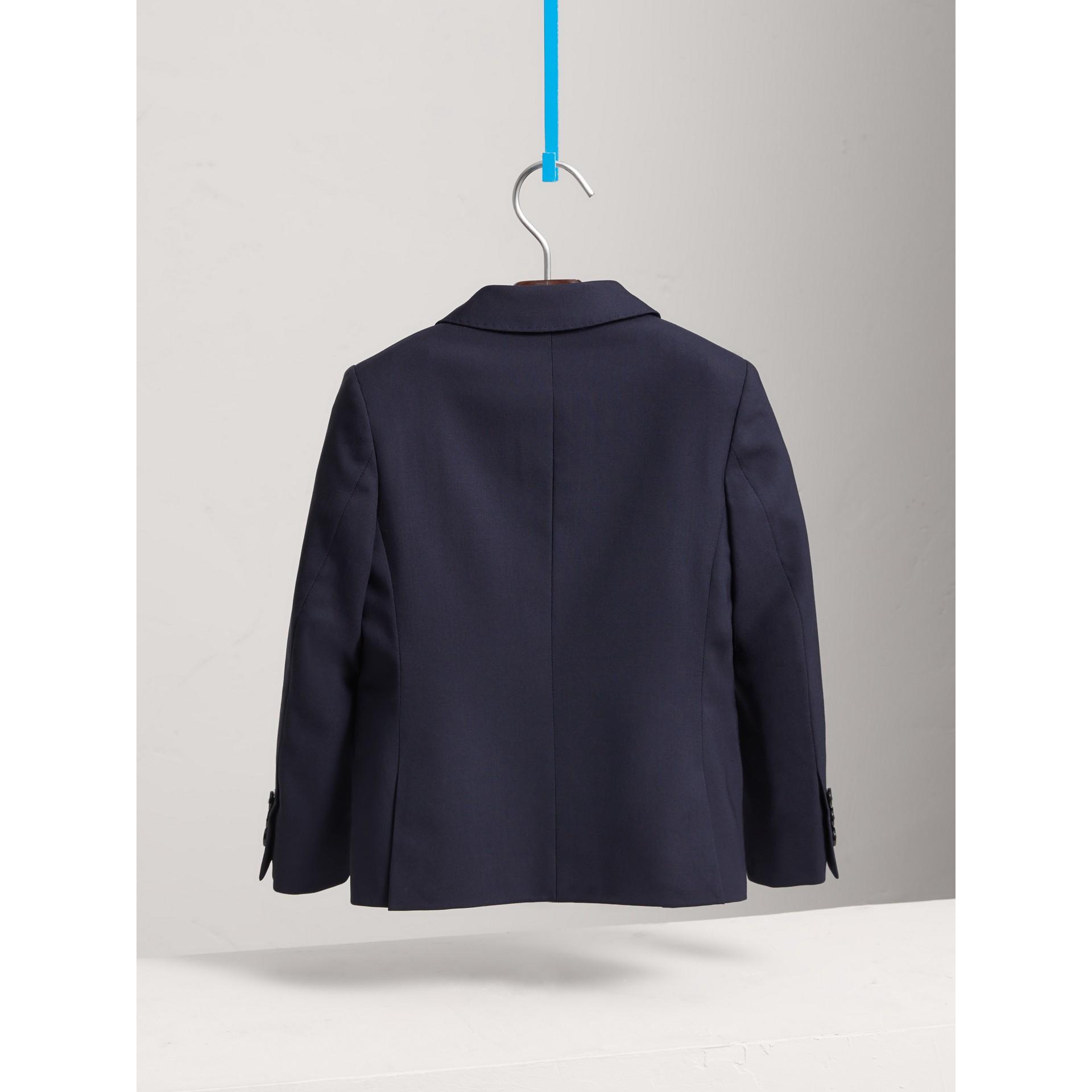 Single-breasted Wool Blazer in Navy - Boy | Burberry Canada - gallery image 4