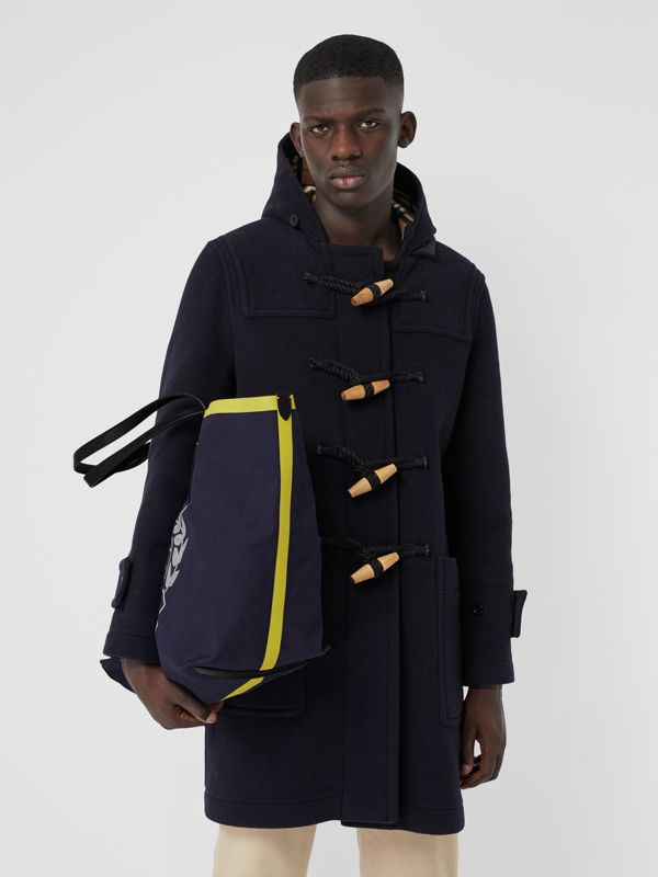The Giant Tote in Archive Crest Cotton in Navy | Burberry - cell image 3