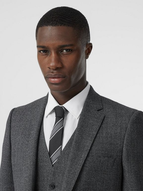 Classic Fit Melange Wool Three-piece Suit in Charcoal - Men | Burberry - cell image 1