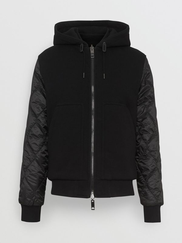 Reversible Diamond Quilted Hooded Jacket in Black - Men | Burberry United Kingdom - cell image 3
