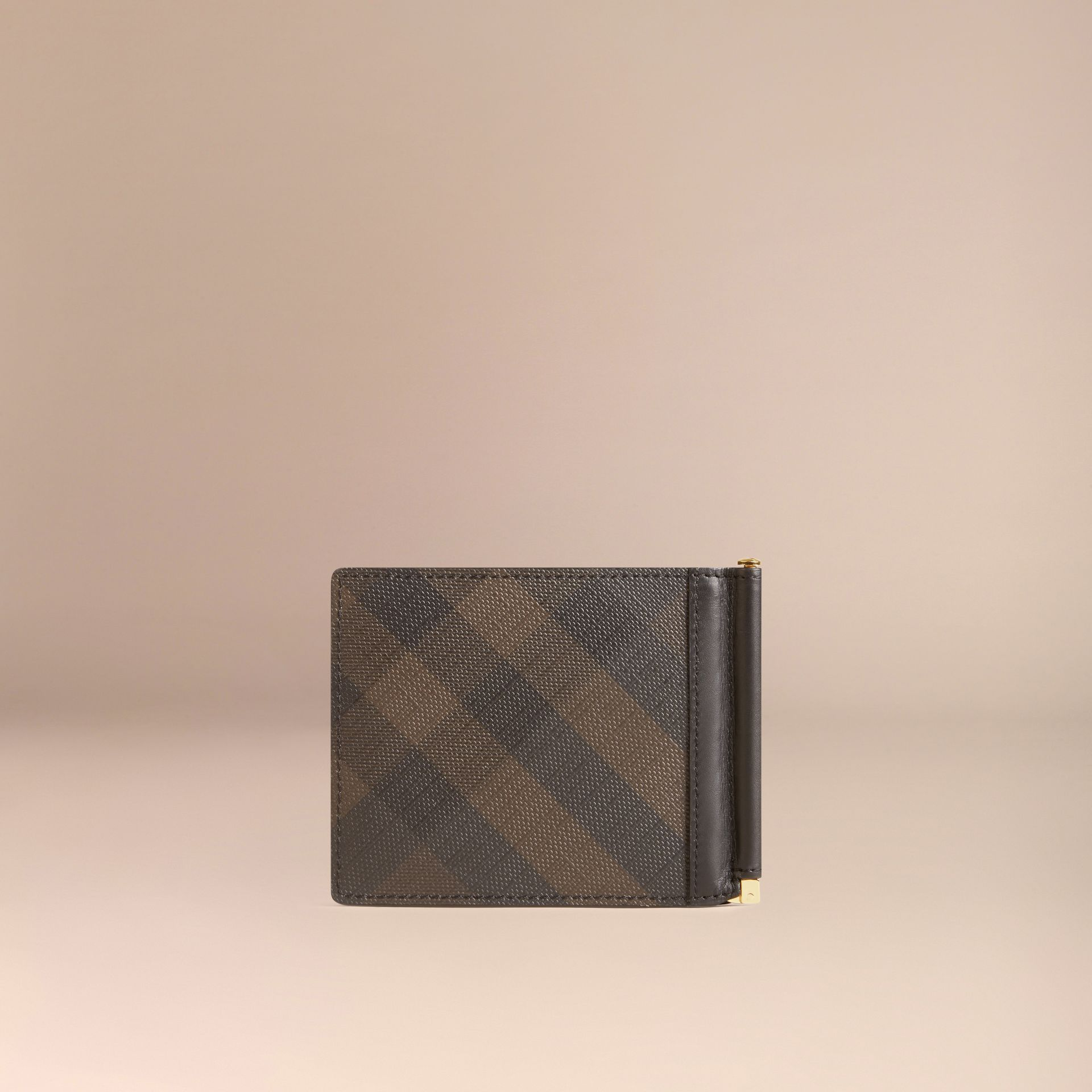 Chocolate/black London Check Money Clip Wallet Chocolate/black - gallery image 3