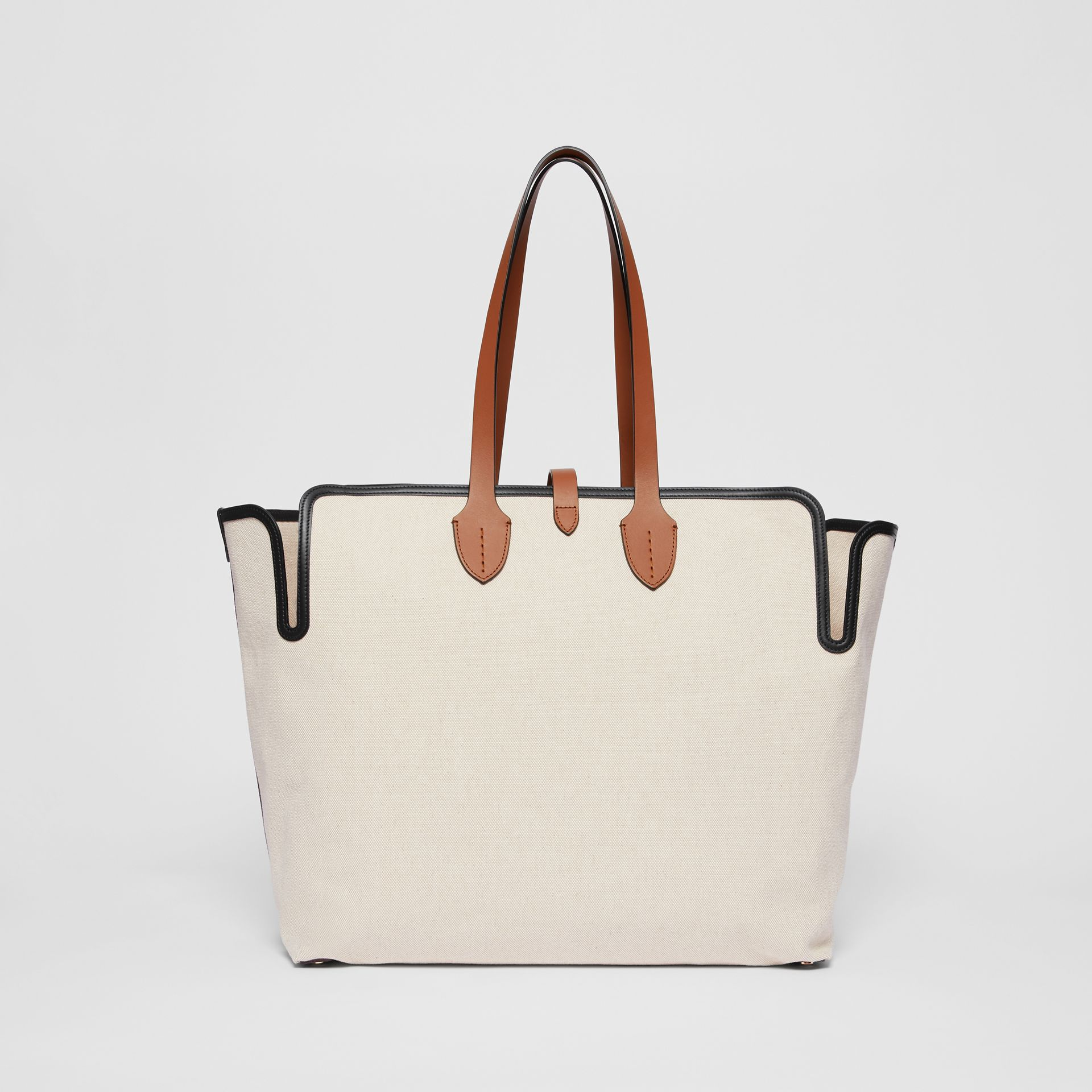 The Large Soft Cotton Canvas Belt Bag in Malt Brown - Women | Burberry - gallery image 7