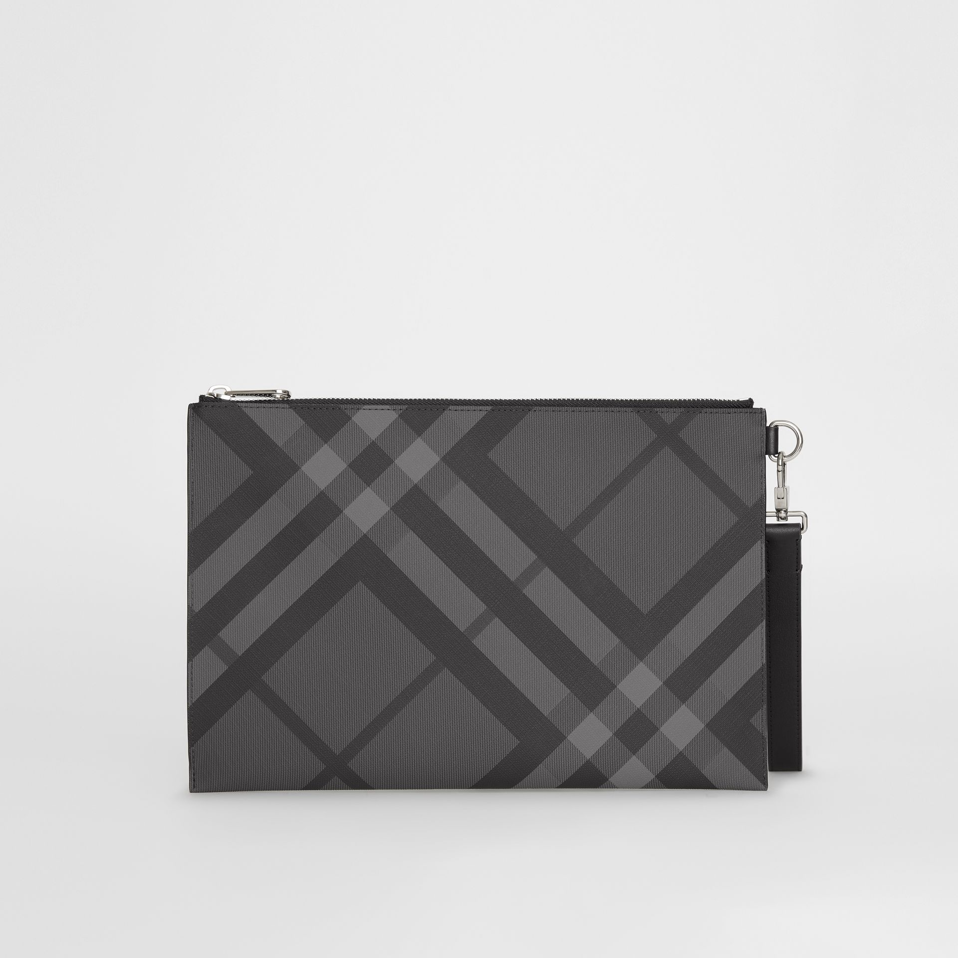 EKD London Check Zip Pouch in Charcoal/black - Men | Burberry - gallery image 6