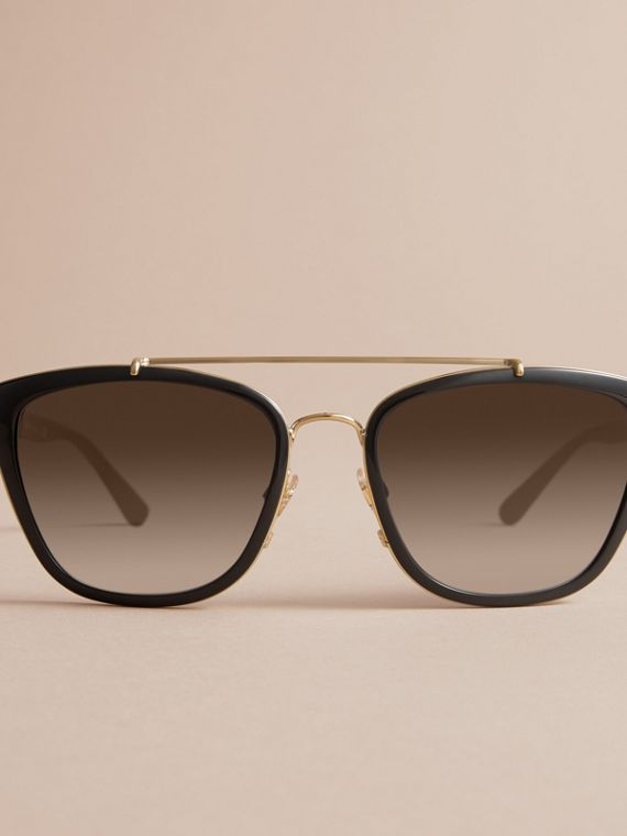 Check Detail Square Frame Sunglasses - cell image 2
