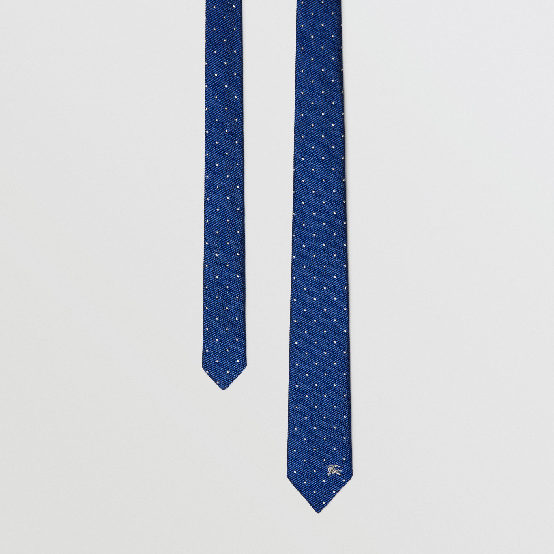 Modern Cut Pin Dot Silk Tie in Azure Blue - Men | Burberry - gallery image 0