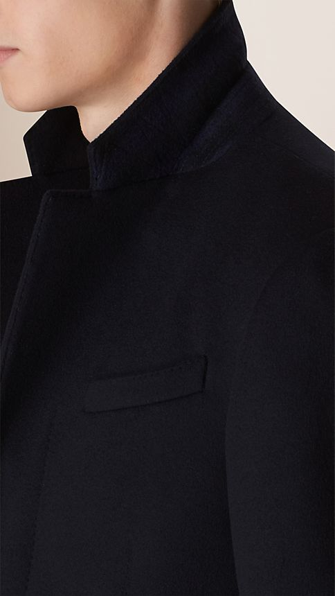 Navy Wool Cashmere Topcoat Navy - Image 5