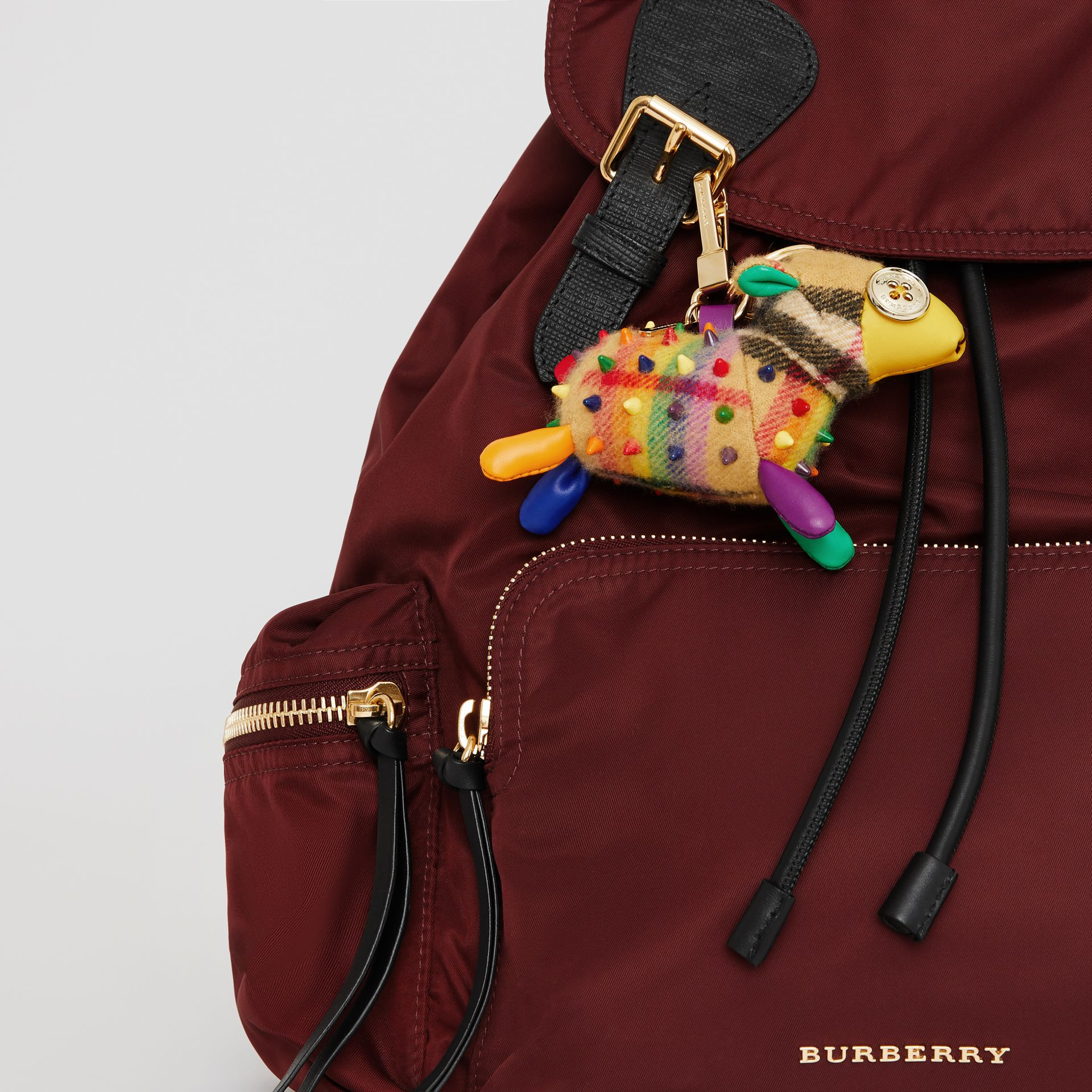 Wendy The Sheep Rainbow Vintage Check Charm in Multicolour/antique Yellow | Burberry Australia - gallery image 2