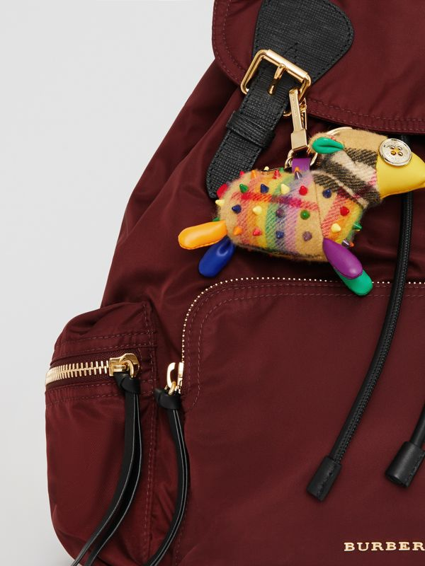 Wendy The Sheep Rainbow Vintage Check Charm in Multicolour/antique Yellow | Burberry Australia - cell image 2