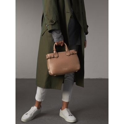 Burberry - Petit sac The Banner en cuir et coton House check - 4