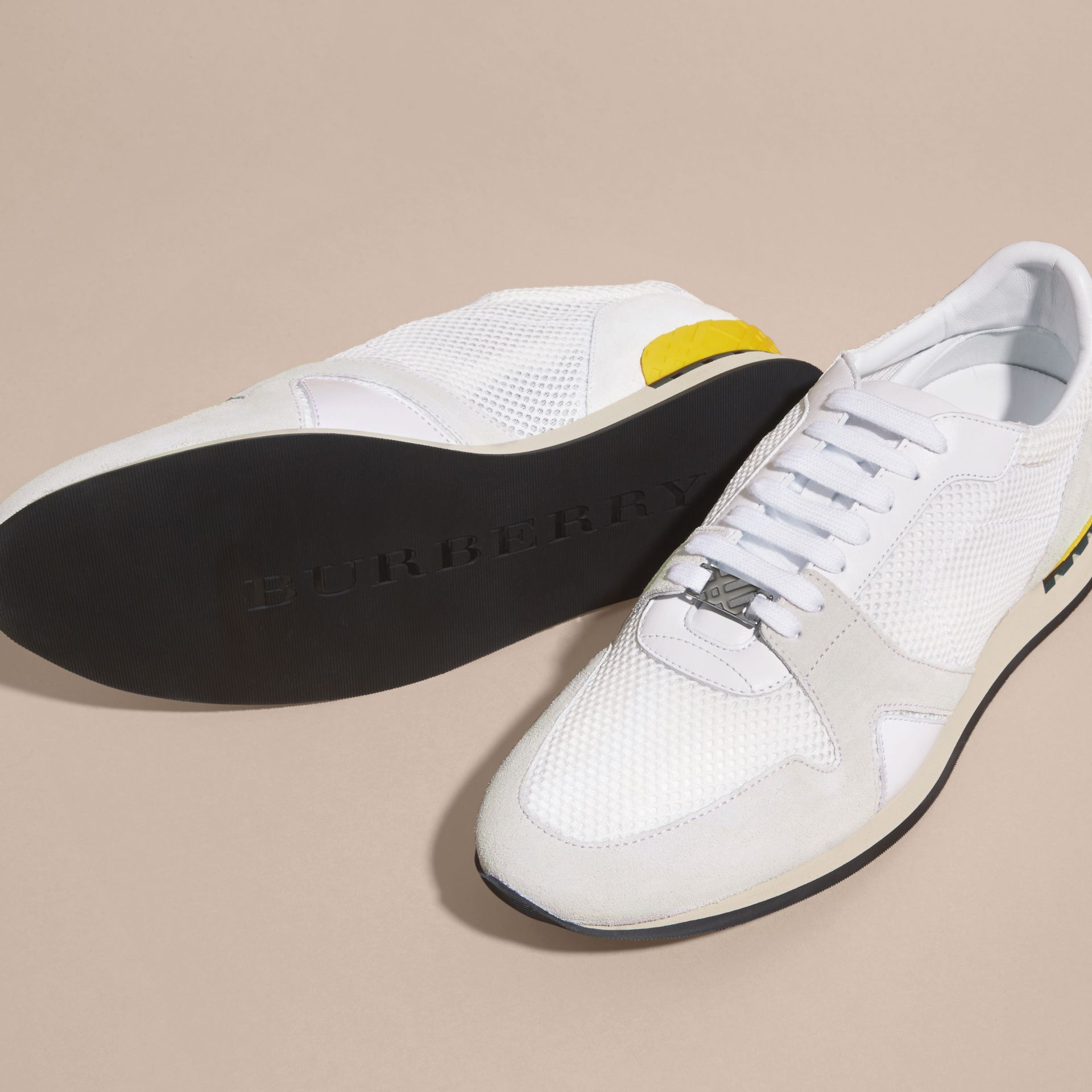White The Field Sneaker in Suede and Mesh White - gallery image 5