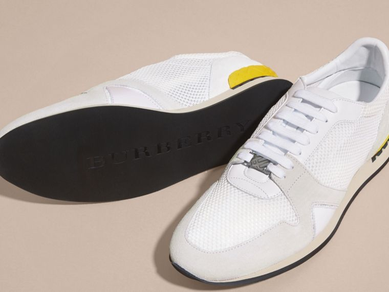 White The Field Sneaker in Suede and Mesh White - cell image 4