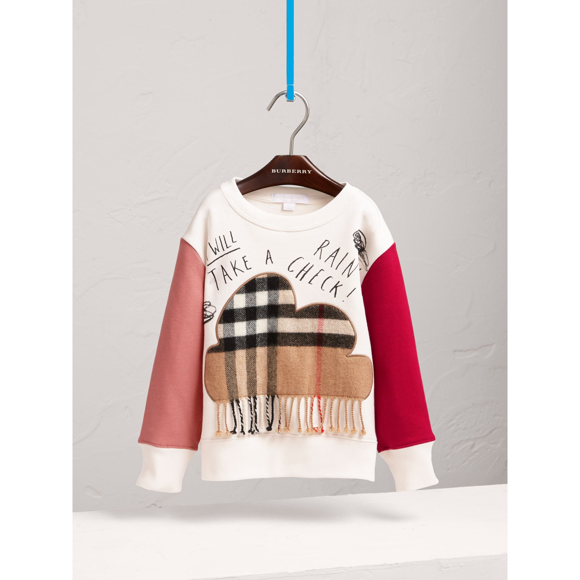 Weather Motif Cotton Sweatshirt in New Classic Check - Girl | Burberry United Kingdom - gallery image 3