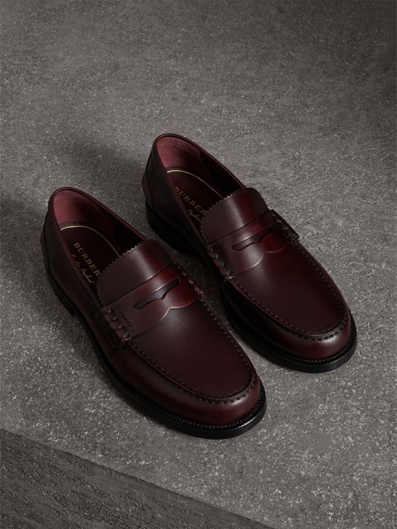 Penny loafer in pelle (Bordeaux)