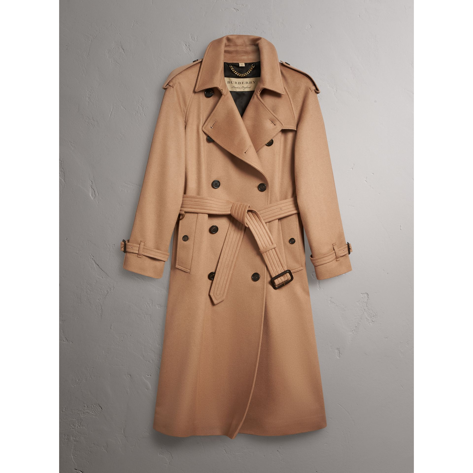 Cashmere Trench Coat in Camel - Women | Burberry - gallery image 4