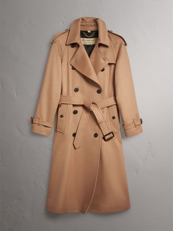 Cashmere Trench Coat in Camel - Women | Burberry - cell image 3
