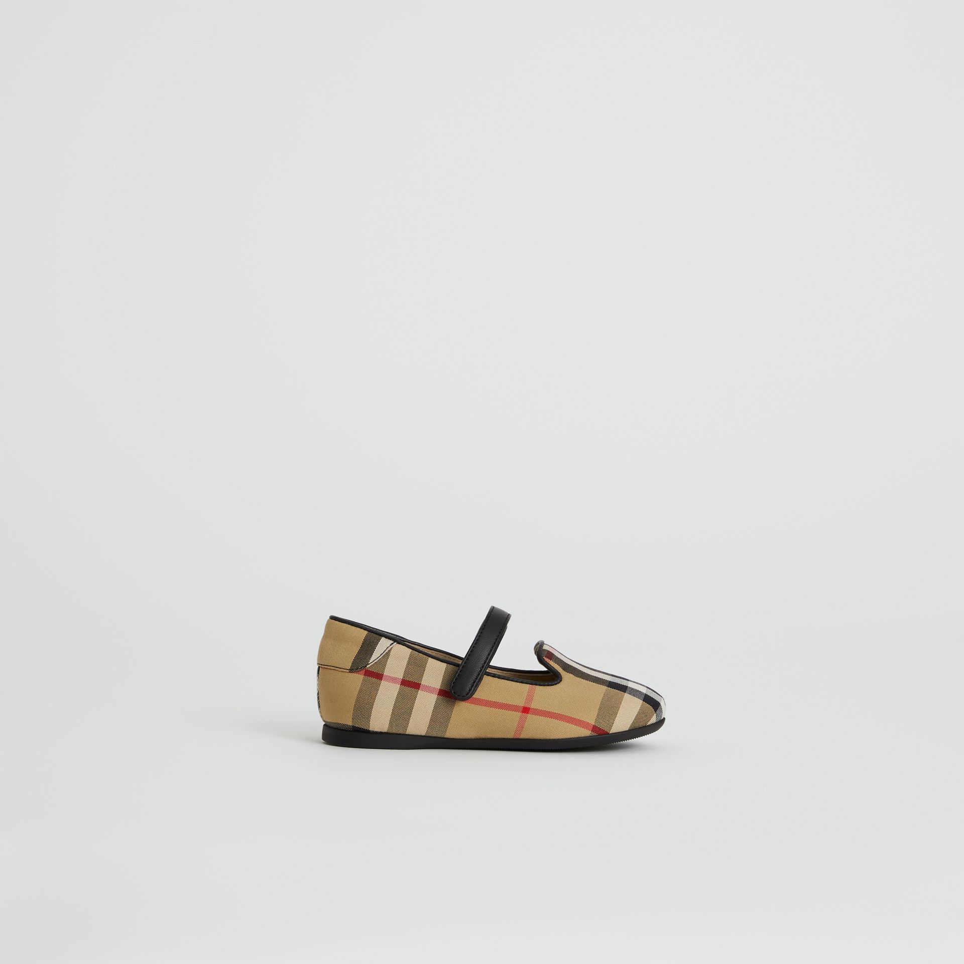D-ring Strap Vintage Check Slippers in Antique Yellow - Children | Burberry United Kingdom - gallery image 3
