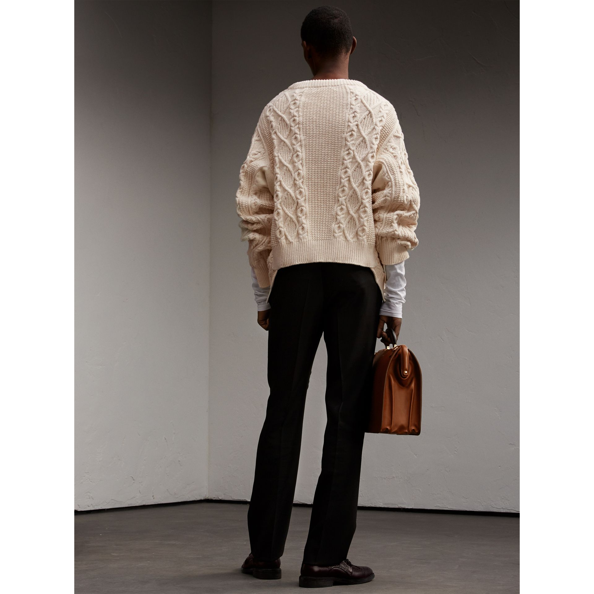English Wool Mohair High-waist Tailored Trousers - Men | Burberry - gallery image 3