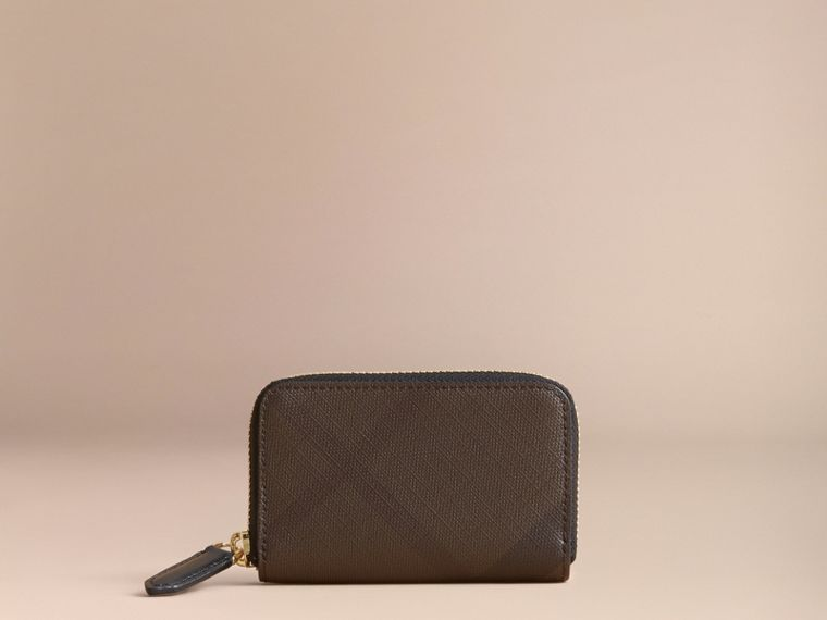 London Check Ziparound Coin Case in Chocolate/black - Men | Burberry - cell image 4