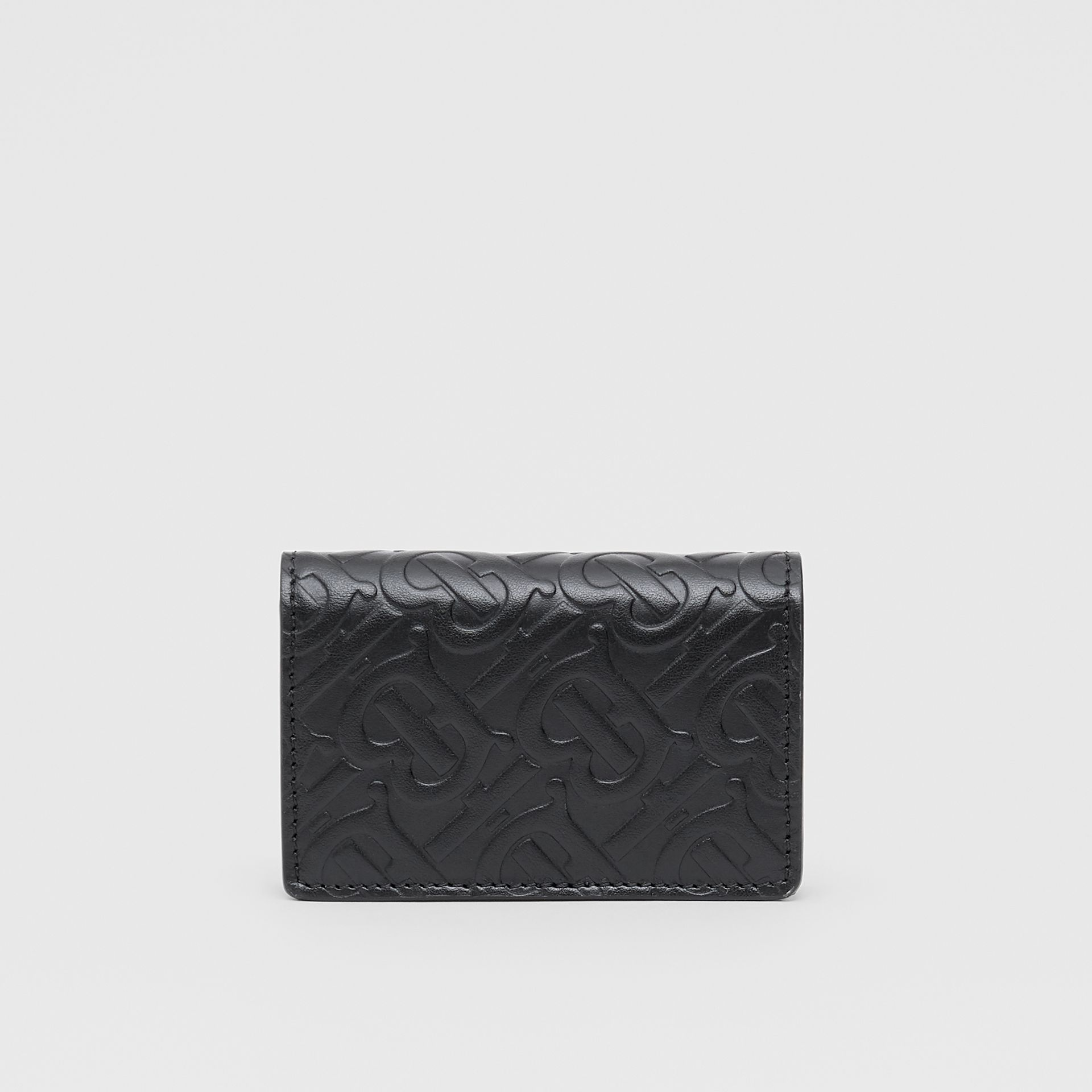 Monogram Leather Card Case in Black | Burberry - gallery image 5