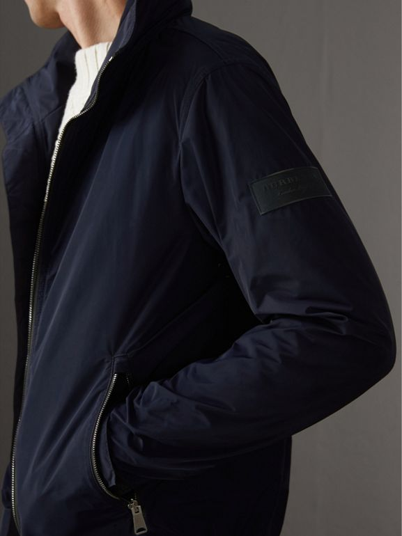 Packaway Hood Showerproof Jacket in Navy - Men | Burberry Australia - cell image 1