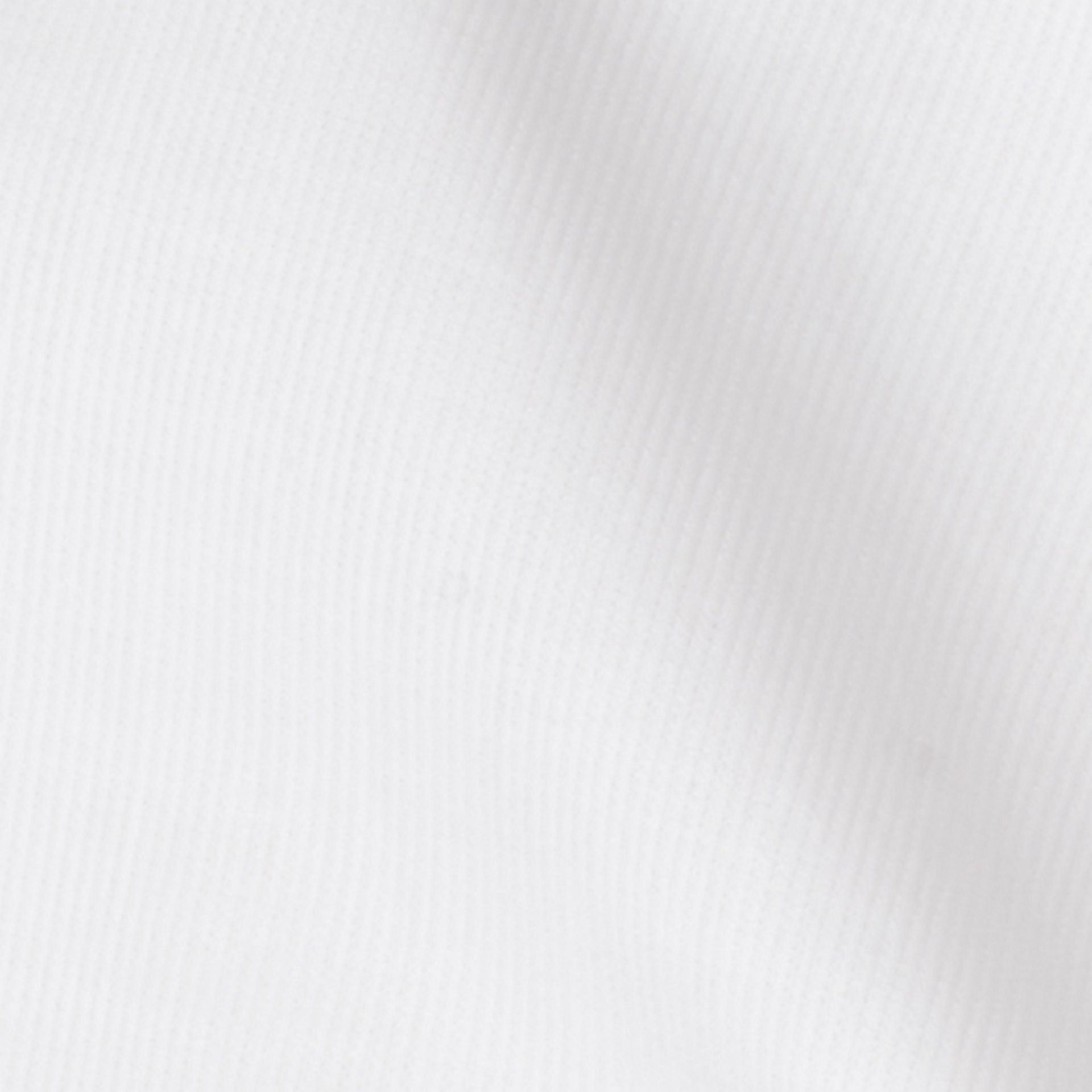Slim Fit Double-cuff Cotton Dress Shirt in White - Men | Burberry - gallery image 2
