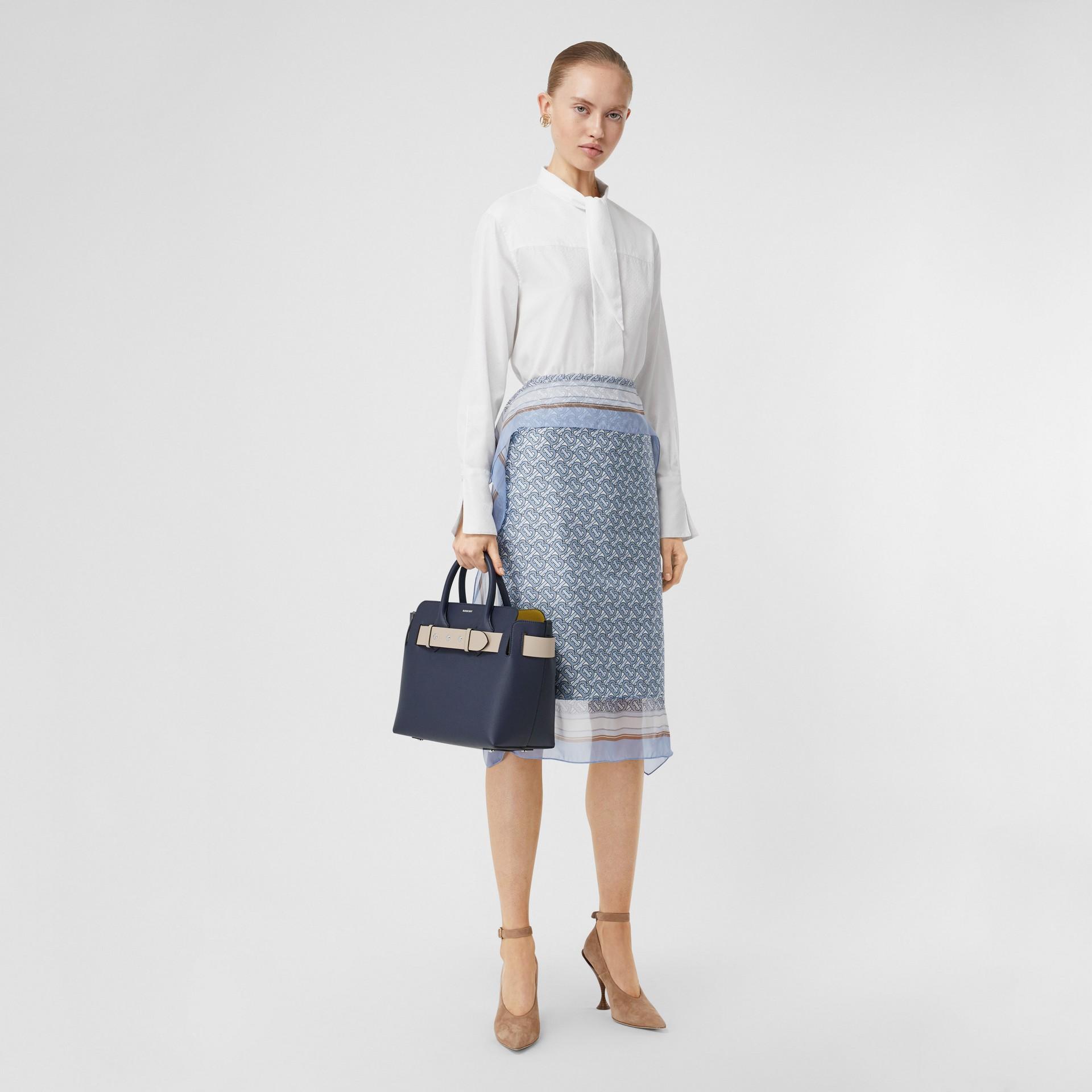 The Small Tri-tone Leather Triple Stud Belt Bag in Regency Blue - Women   Burberry - gallery image 5
