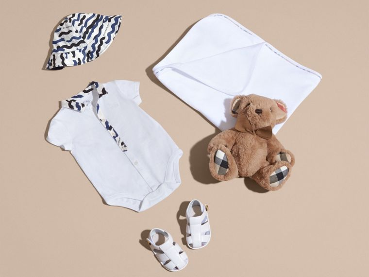 Wave Print Cotton Three-piece Baby Gift Set - cell image 4