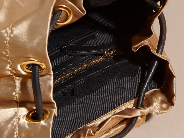 The Medium Rucksack in Two-tone Nylon and Leather Gold/black - cell image 4