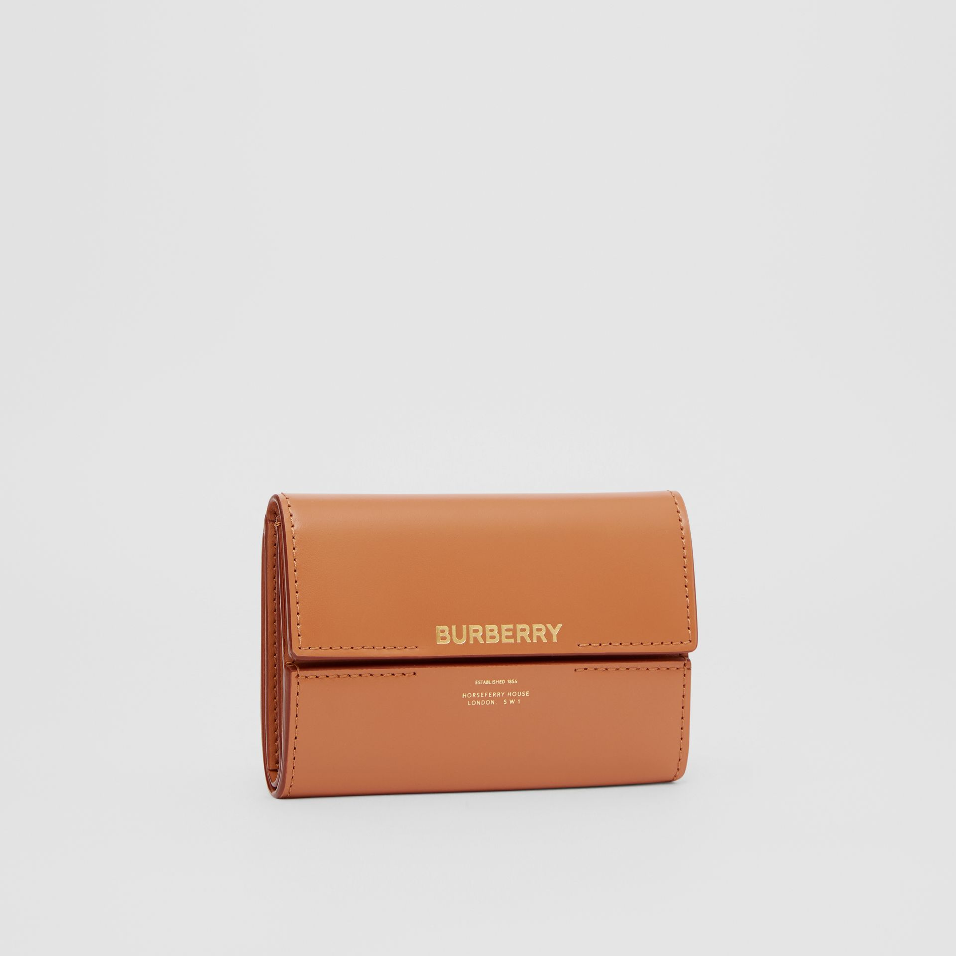 Horseferry Print Leather Folding Wallet in Nutmeg - Women | Burberry - gallery image 4