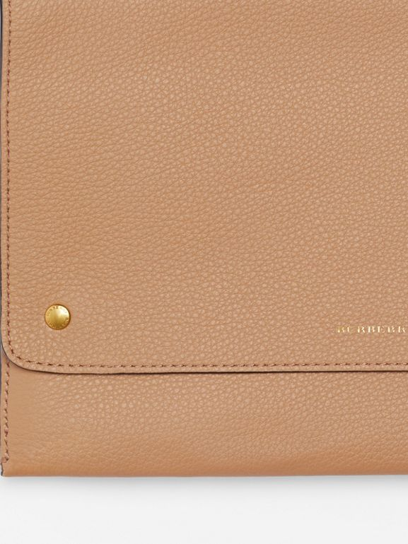 Leather Pouch with Detachable Strap in Light Camel - Women | Burberry - cell image 1