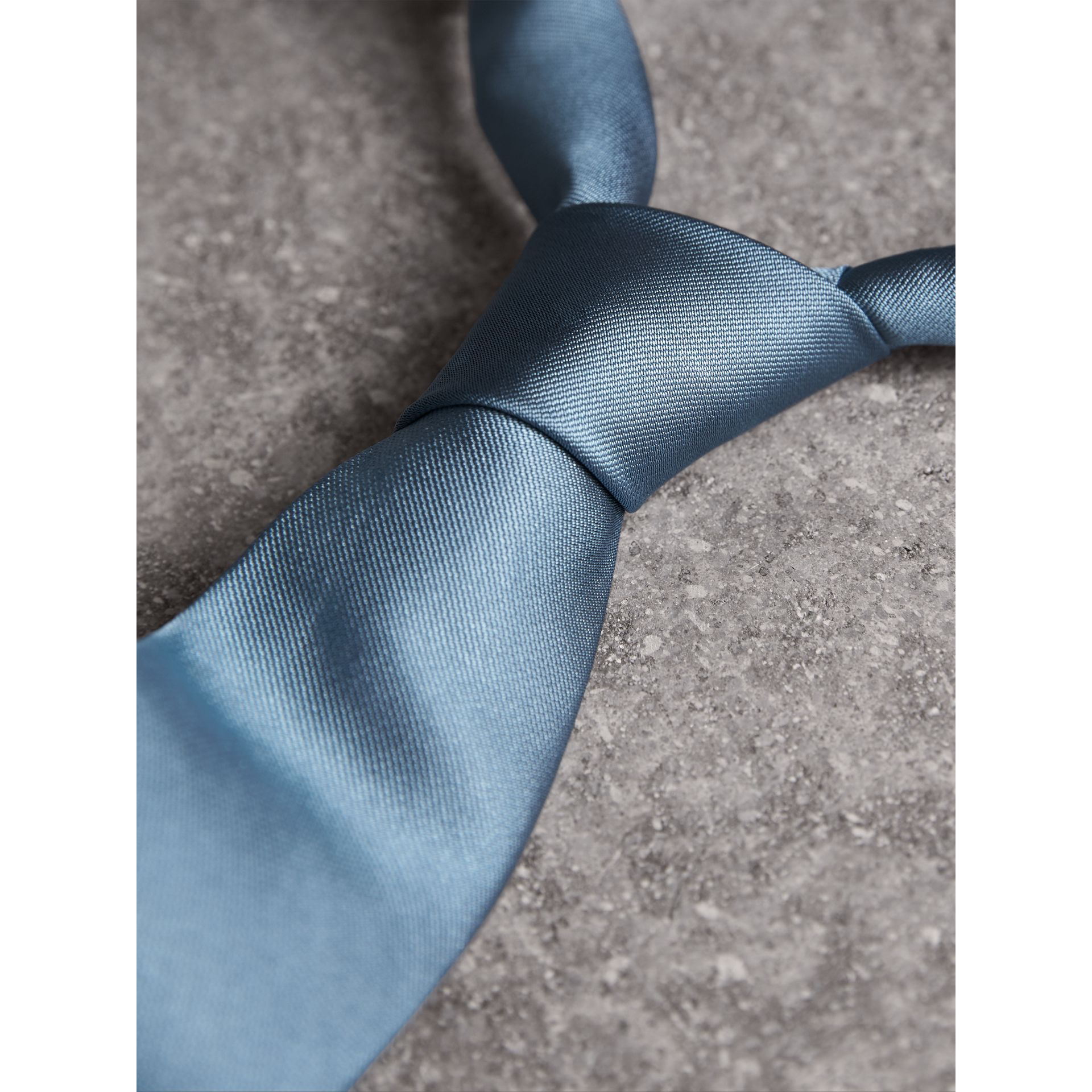 Modern Cut Silk Twill Tie in Sky Blue - Men | Burberry United States - gallery image 1