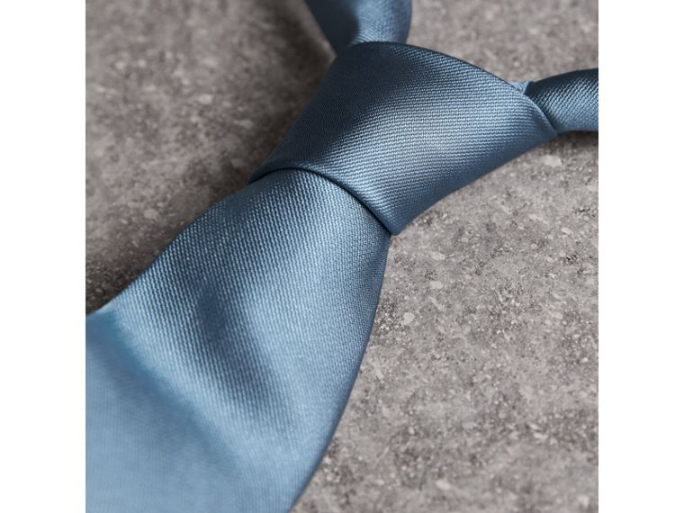 Modern Cut Silk Twill Tie in Sky Blue - Men | Burberry Canada - cell image 1