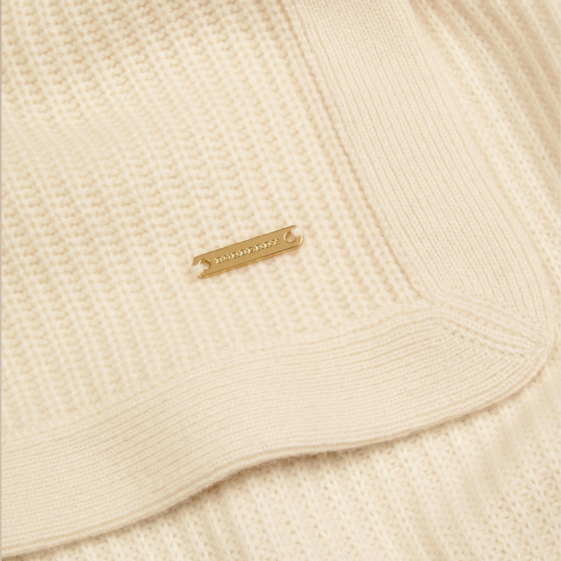 Natural white Rib Cashmere Blanket Natural White - gallery image 2
