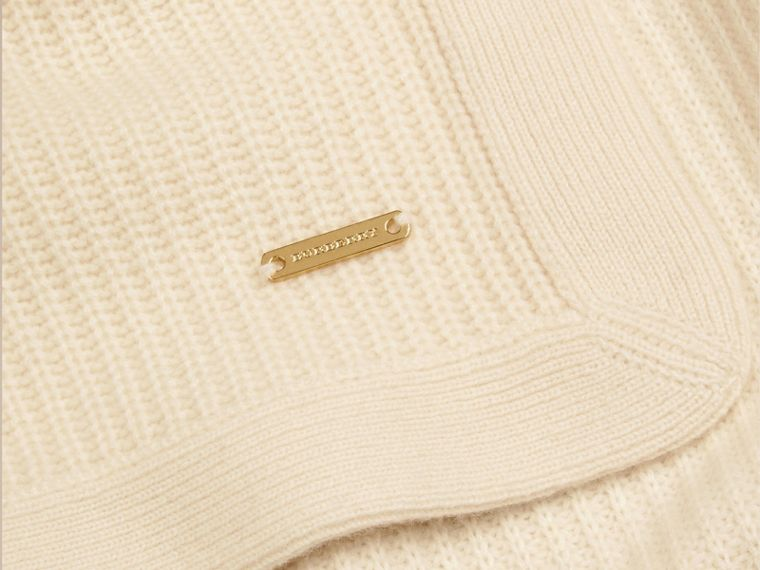 Natural white Rib Cashmere Blanket Natural White - cell image 1