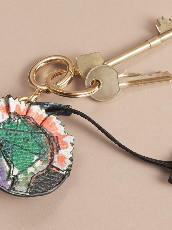 Pallas Heads Motif Leather Key Charm with Padlock in Multicolour - Women   Burberry United Kingdom - cell image 2