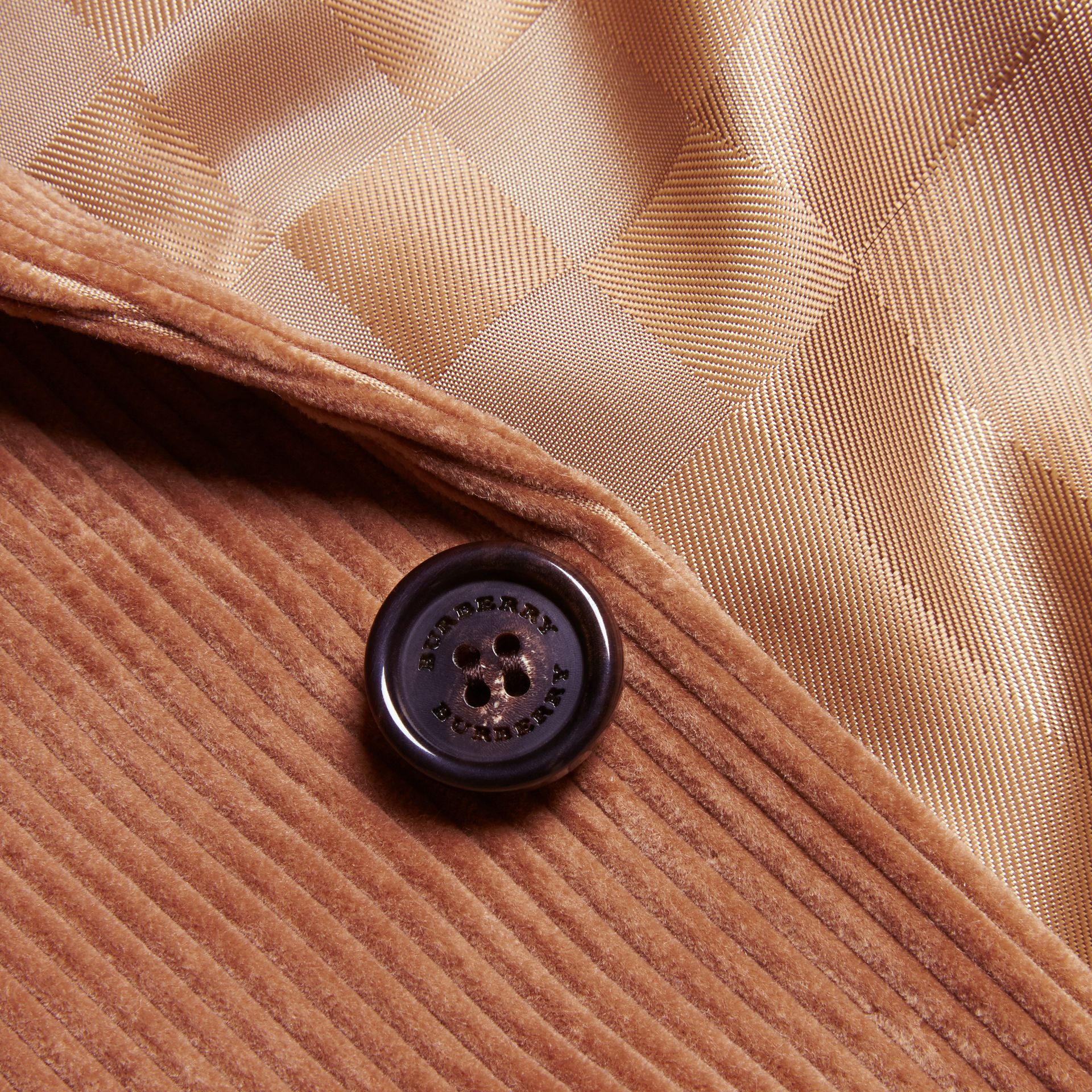 Camel Slim Fit Cotton Corduroy Jacket Camel - gallery image 2