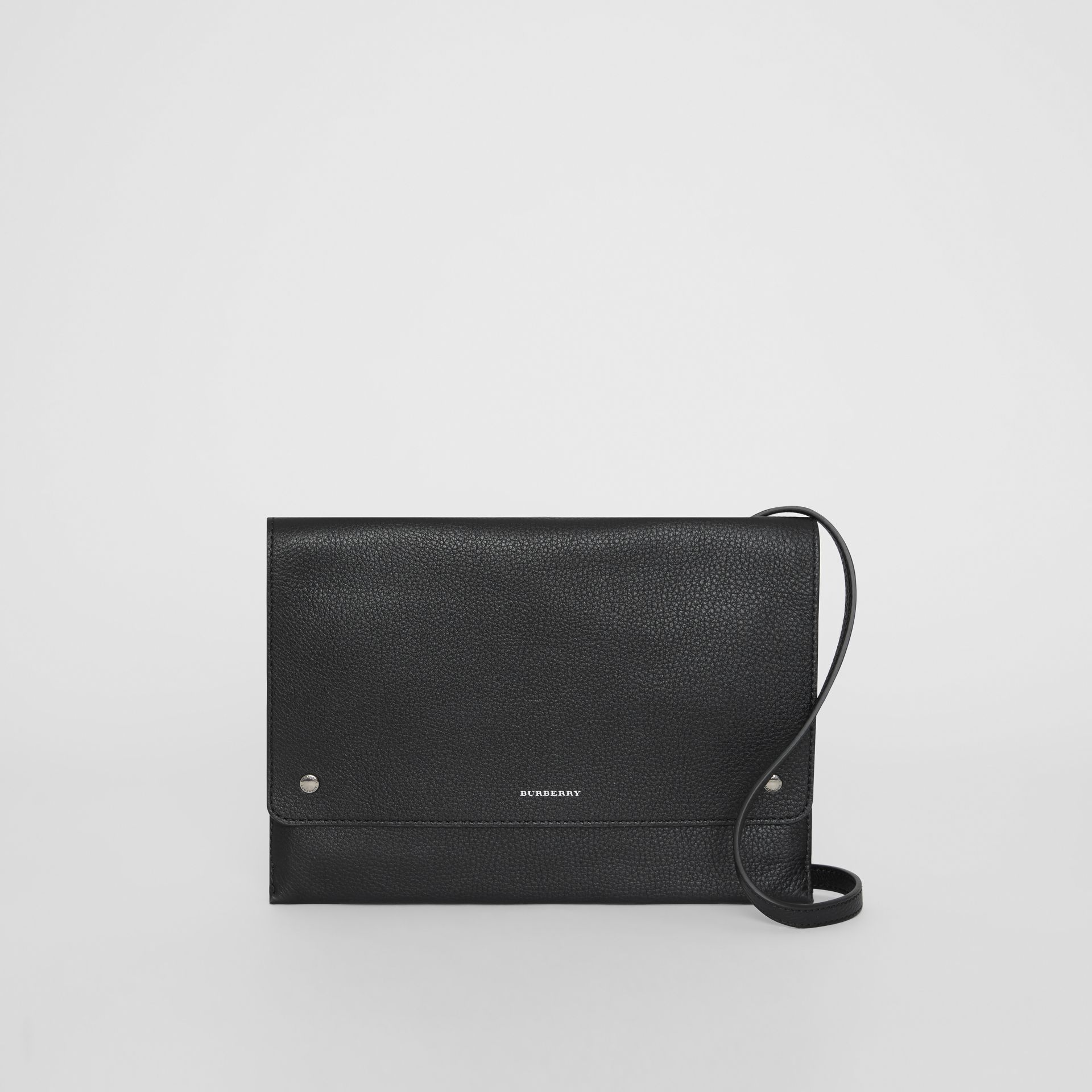 Leather Envelope Crossbody Bag in Black - Women | Burberry United States - gallery image 0