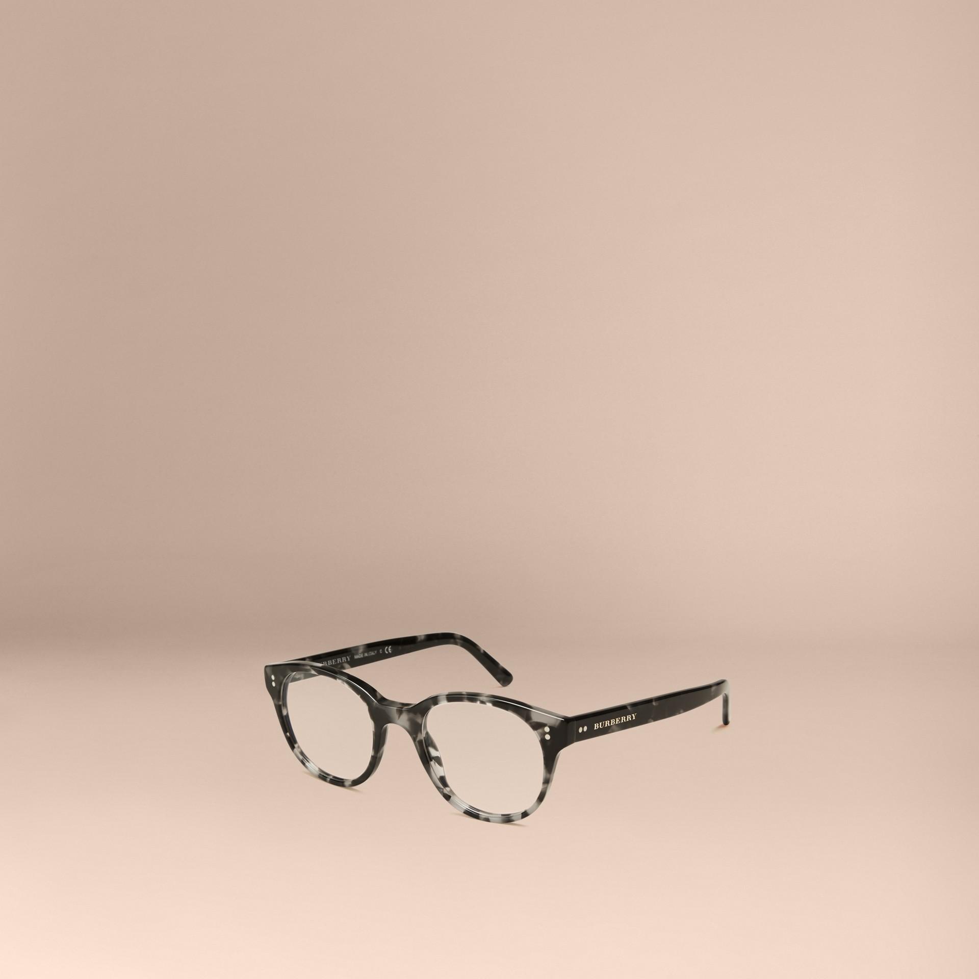 Gris Monture ronde pour lunettes de vue Gris - photo de la galerie 1
