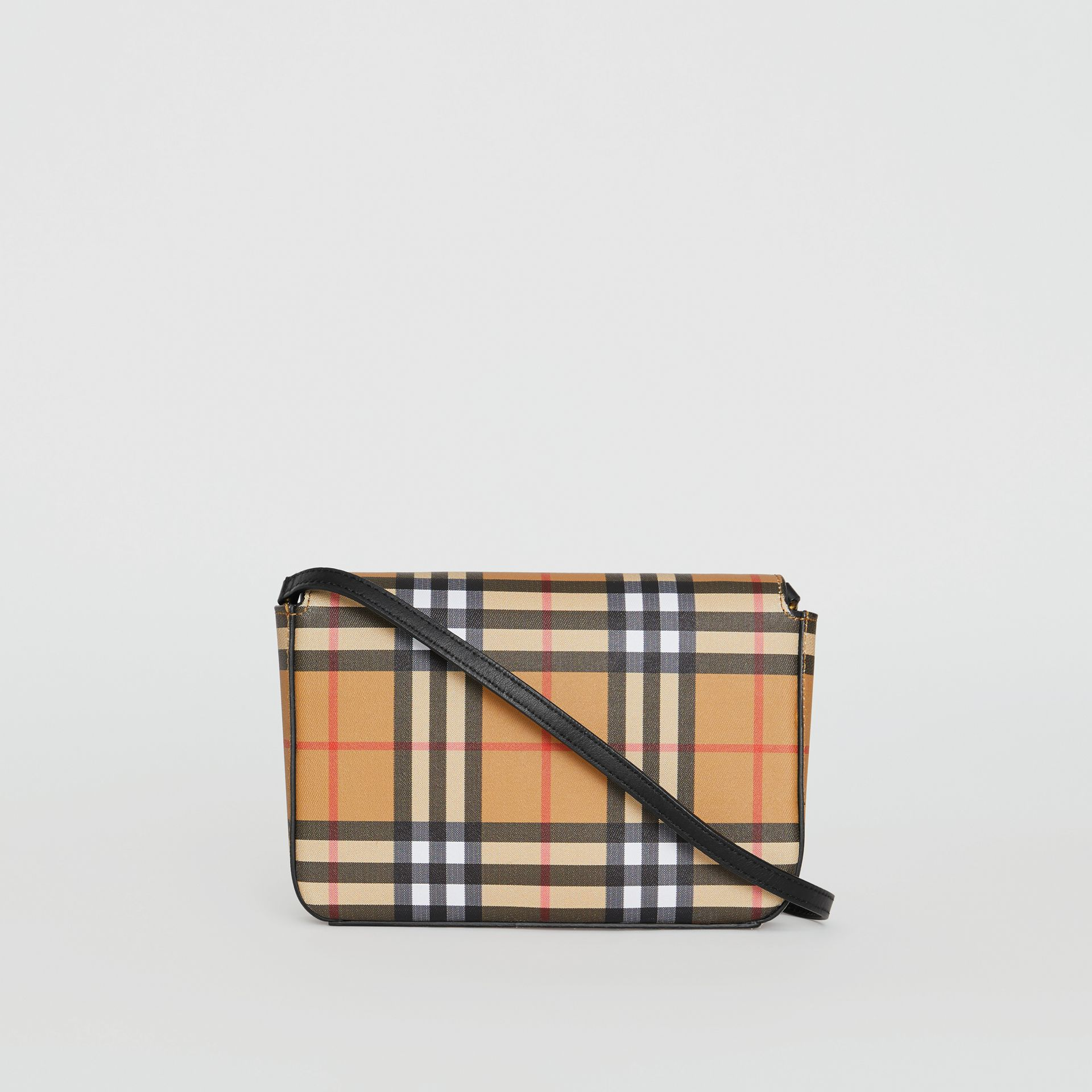 Vintage Check and Leather Wallet with Detachable Strap in Black - Women | Burberry Canada - gallery image 5