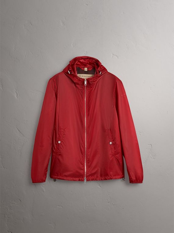Hooded Super-lightweight Jacket in Crimson Pink - Men | Burberry - cell image 3