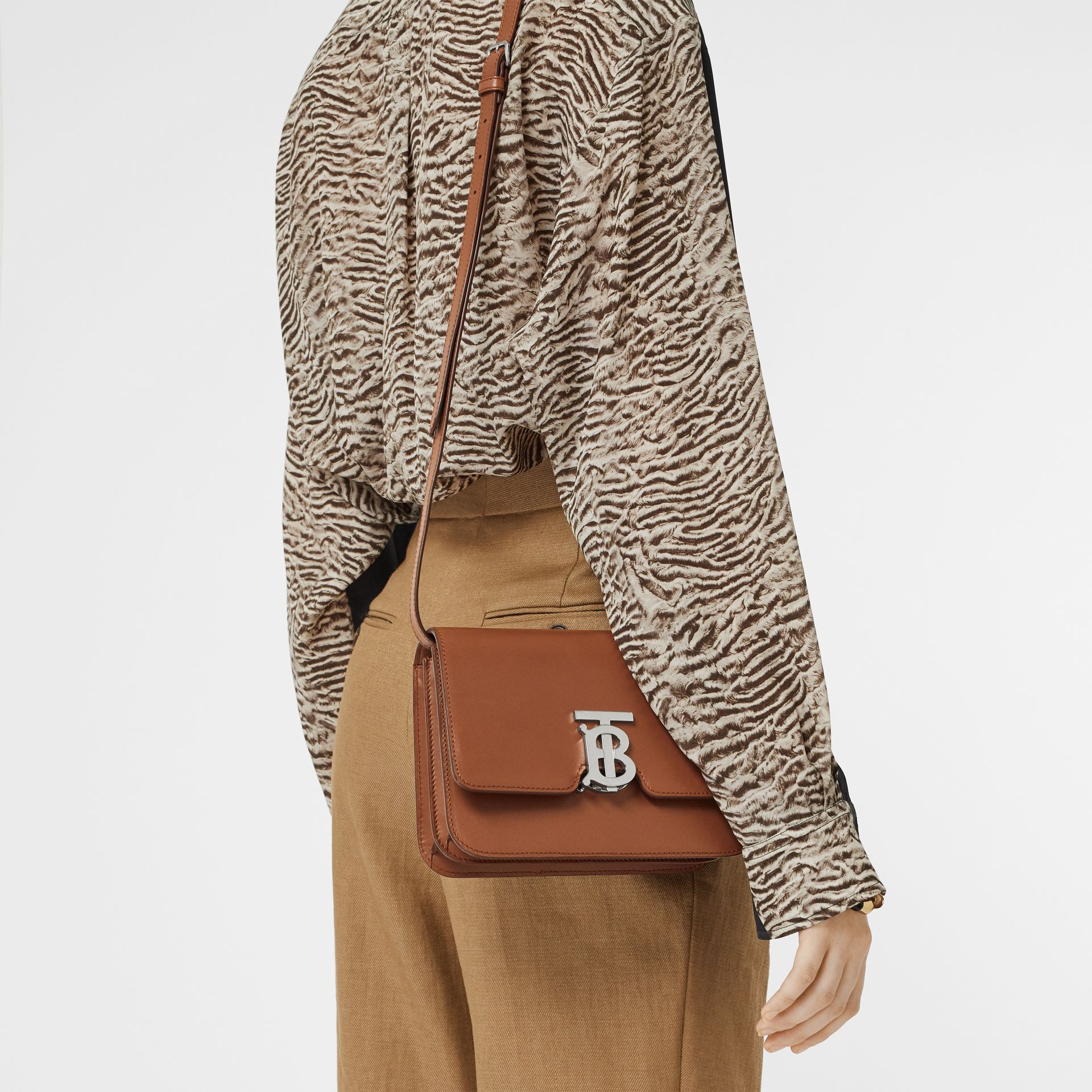 Small Leather TB Bag in Malt Brown - Women | Burberry - gallery image 2