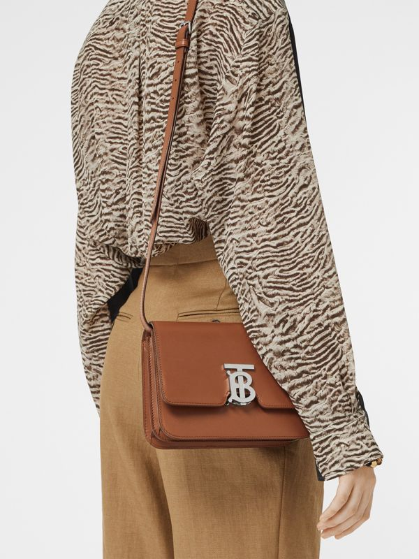 Small Leather TB Bag in Malt Brown - Women | Burberry - cell image 2