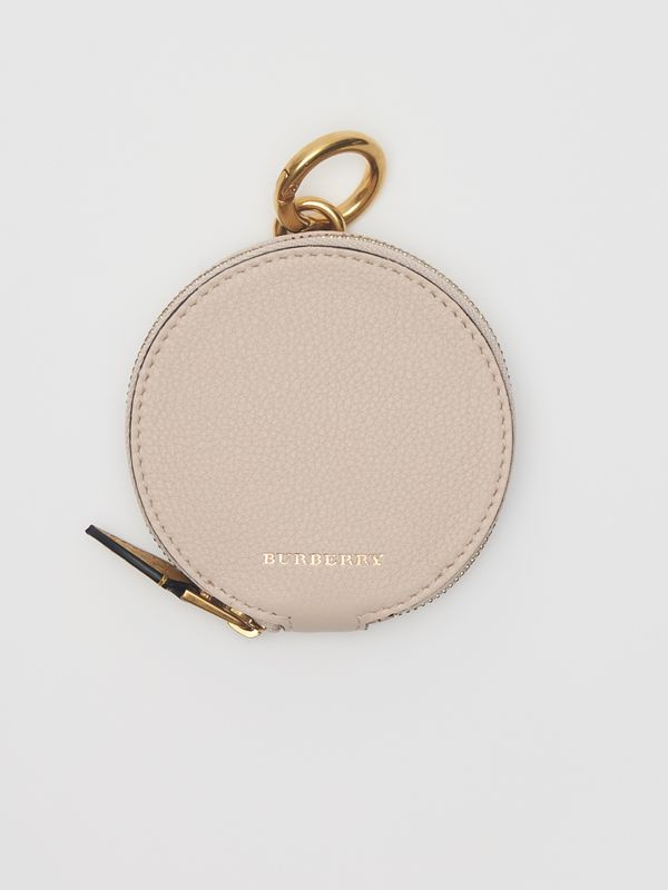 Small Round Leather Coin Case in Limestone/cornflower Yellow | Burberry Hong Kong - cell image 2