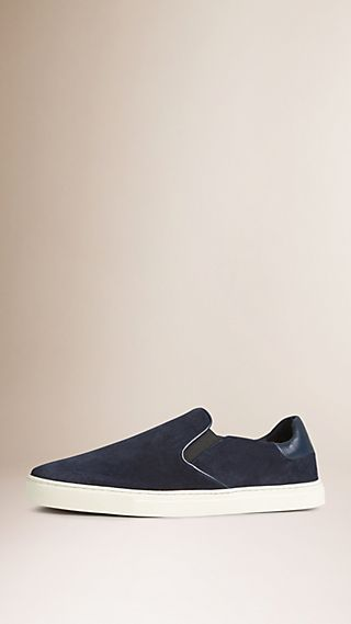 Suede Slip-on Trainers