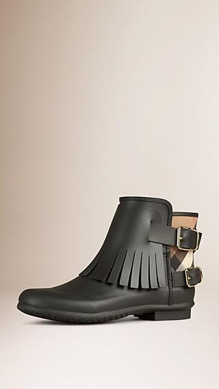 Stivali da pioggia con frange