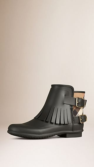 Fringed Rain Boots