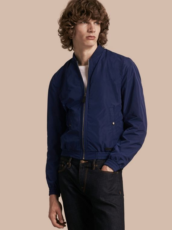 Showerproof Bomber Jacket Jet Blue