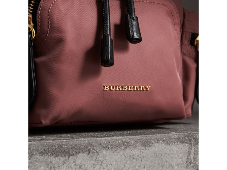 The Crossbody Rucksack in Nylon and Leather in Mauve Pink - Women | Burberry - cell image 1